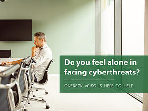 vCISO to help cyberthreats man working